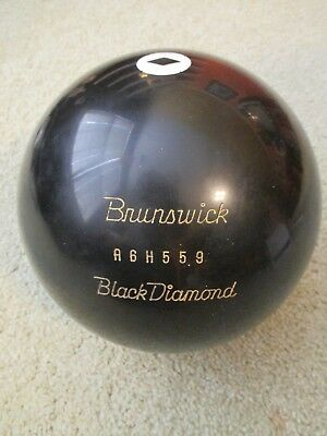 Vintage Brunswick Black Diamond Undrilled 14 Pound Bowling Ball Never Drilled