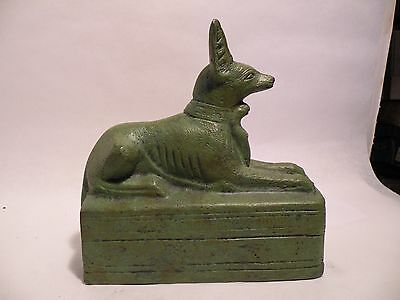 JJ101 VINTAGE HEAVY CAST ANCIENT EGYPT REPRODUCTION OF ANUBIS dog statue