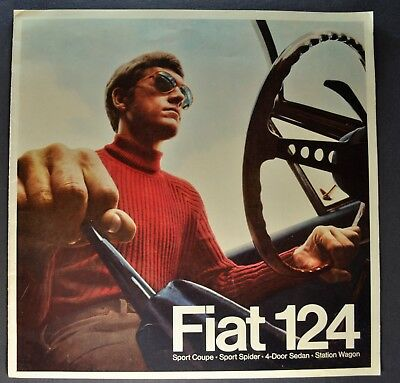 1969 Fiat 124 Catalog Brochure Sport Spider Coupe Wagon Excellent Original 69