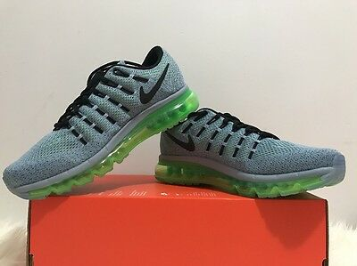 NIKE AIR MAX 2016 Blue GreyBlack Electric Green Size Men's 8 [806771 403]
