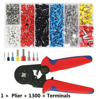 1301X Assorted Insulated Electrical Wire Terminals Crimp Connector Spade Set Kit