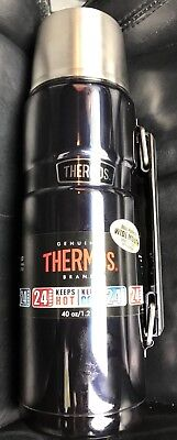 Thermos King Stainless 40-oz Vacuum-Insulated Food Beverage Bottle Tumbler  Blue