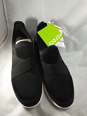 f6c439c6c157a CROCS SWIFTWATER CROSS-STRAP Womens Size 10 Black and White -  35.00 ...