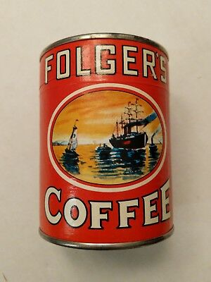 Vtg Folgers Coffee Puzzle In Can Sealed