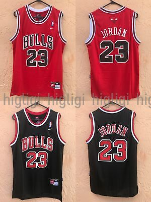 NWT Michael Jordan #23 Chicago Bulls Jersey Throwback, Stitched, Red/Black