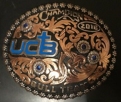 Trophy Rodeo Champion Belt Buckle Bull Team High Point Stock Contractor