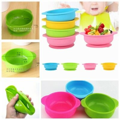 Silicone Dish Mat Baby Kids Feeding Suction Table Food Tray Placemat Plate Bowl