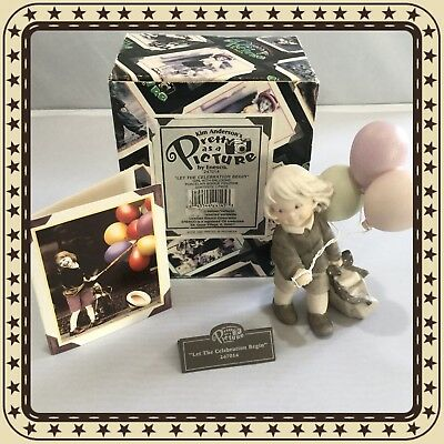 """1996 Kim Anderson's Pretty As A Picture """"let The Celebration Begin"""" By Enesco"""