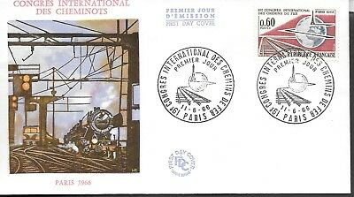 FR102) France 66 Congres International des cheminots FDC
