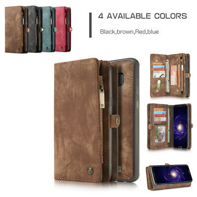 Purse Wallet Case For Galaxy S9 S8P+ S9+ Note 8 Magnetic Removable Cover New