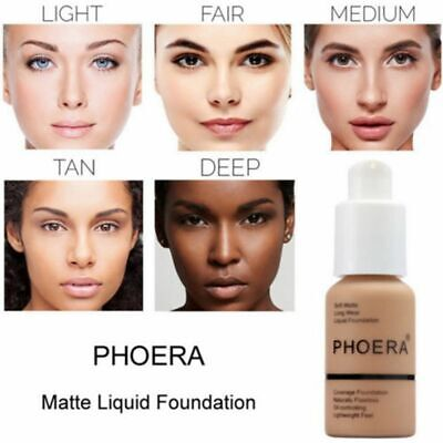 Coverage Concealer PHOERA Liquid Foundation Cosmetic Longlasting Moisturizing
