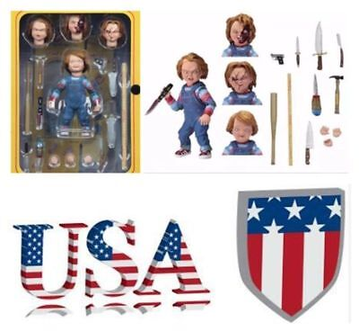 US Sell NECA Toys Child's Play Good Guys 10cm PVC Figure Ultimate Chucky Model