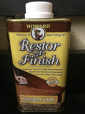 NEW HOWARD'S RESTOR-A-FINISH Golden Oak Wood Furniture Restorer 8 oz