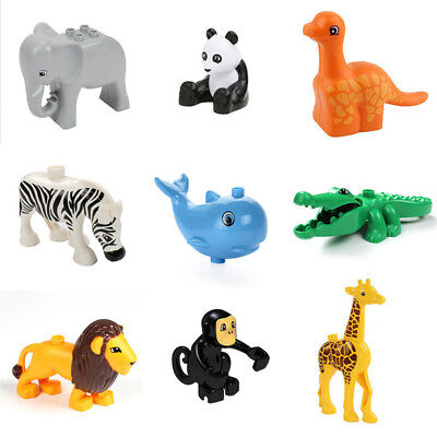 New Building Block Giraffe Elephant Animal Model Figures kids Educational Toys