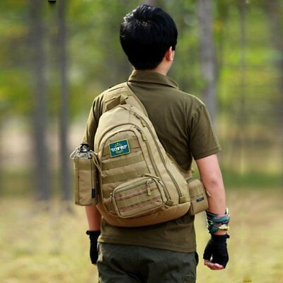 Men Backpack Rusksack Sling Chest Bag Tactical Military Messenger Shoulder Bag