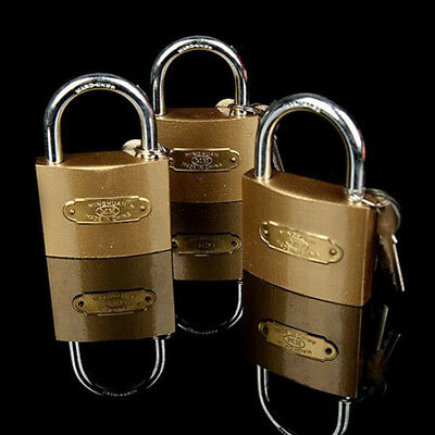 Mini Gold Brass Padlocks Luggage Travel  Bag Suitcase Padlock Box 4 pcs/Set