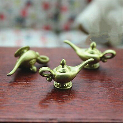 Dollhouse Miniatures Resin Aladdin Magic Lamps Tea Pot Doll House Accessories