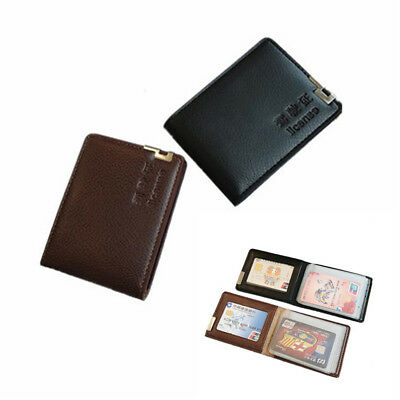 ID Driver License Holder Man Wallet Credit Card Bag Protector Case Leather