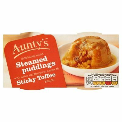 Aunty's Steamed Sticky Toffee Puddings 2 x 110g - Pack of 6