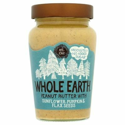 Whole Earth Smooth Peanut Butter with Mixed Seeds 340g - Pack of 6