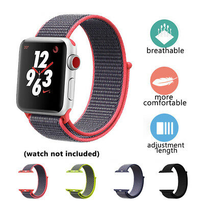 For Apple Watch iWatch Series 3/2/1 Woven Nylon Bracelet Loop Band Strap 38/42MM