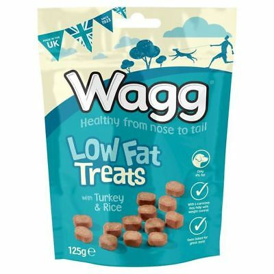 Wagg Low Fat Treats with Turkey & Rice 125g (PACK OF 6)