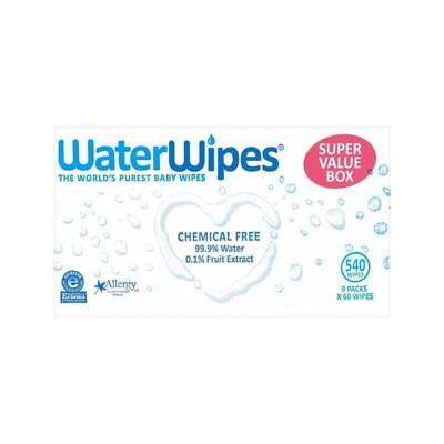 WaterWipes Super Value Pack Sensitive Baby Wipes 9 x 60 per pack - Pack of 6