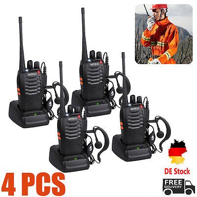4x Retevis BaoFeng Hand-funkgerät Walkie-Talkie Radios CTCSS/CDCSS  BF-888S UHF