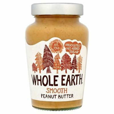 Whole Earth Original Smooth Peanut Butter 454g - Pack of 6