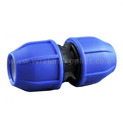 STRAIGHT COUPLER* MDPE Plastic Compression Fitting Water Pipe WRAS Connector