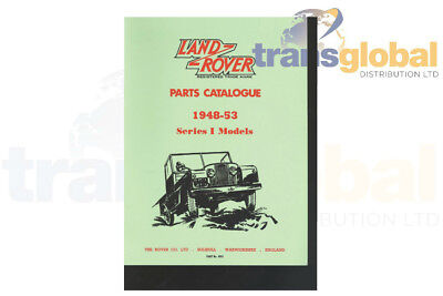 Land Rover Series 1 1948 - 1953 Parts Catalogue Book