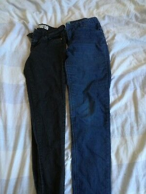 0adeccf73f37 LADIES OASIS MY Scarlet Boot Cut Jeans Size 8 W28 L25 Cropped Black ...