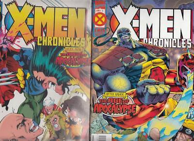 X-Men : Chronicles ( Completa )  2  Numeros Triples... Marvel U.s.a En Ingles.