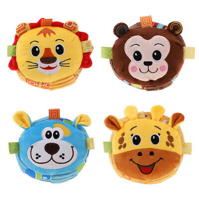 Soft Plush Animal Doll Hand Shake Rattle Bell Sound Toy Baby Music Leanring