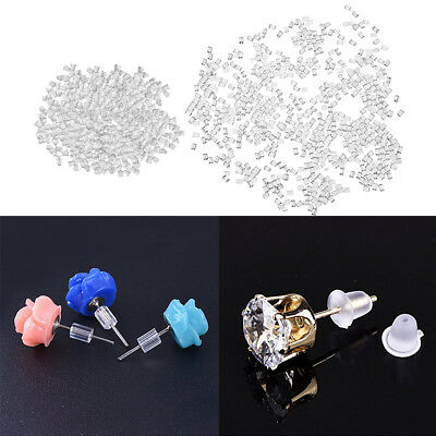 1000 PCS Earring Safety Backs Stoppers Replacement for Studs Hook Earring