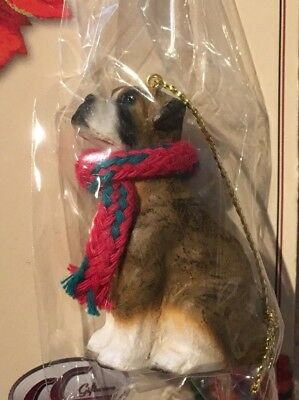 Boxer Brindle Un-Cropped Ears Mini Dog Ornament Conversation Concepts New