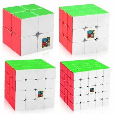1x Moyu Mofangjiaoshi Speed Cube 2x2 3x3 4x4 5x5 Stickerless Puzzle Magic Cube