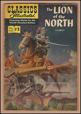 Vintage British Classics Illustrated: Lion Of The North/Henty No.133  HRN129 1/3