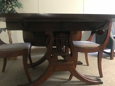Rare Drexel Mahogany Dining Table Set