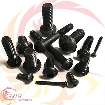 M2.5 M3 M4 M5 M6 Socket Button Head Screws 10.9 High Tensile Black Allen Bolts
