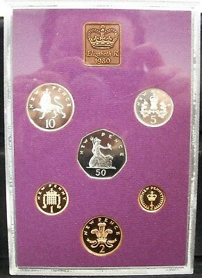 1980 Coinage of Great Britain & Northern Ireland 6-Coin NO BOX OR COA