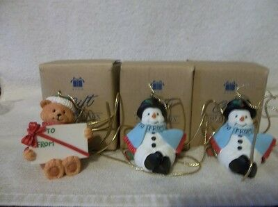 Avon 2001 Gift Collection 3 Holiday Wishes Package Toppers