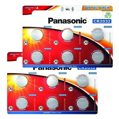 12 X Panasonic Cr2032 Lithium Coin Cell 2032 3V Battery Car Key Fobs Toys Remote