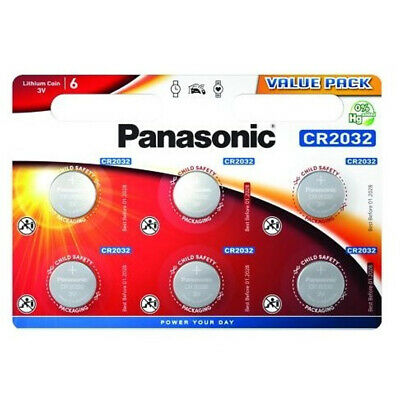 Genuine 6X Panasonic Cr2032 3V Lithium Coin Cell Battery Dl2032 Br2032