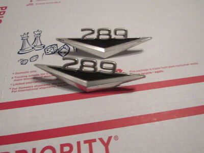 1967 1968 Ford Mustang 289 Side Fender Emblem (Pair) Vintage Original Classic