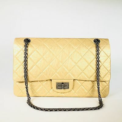 5af56739e5924c Authentic Chanel Gold 12in. 227 Reissue 2.55 Jumbo Classic Double Flap Bag