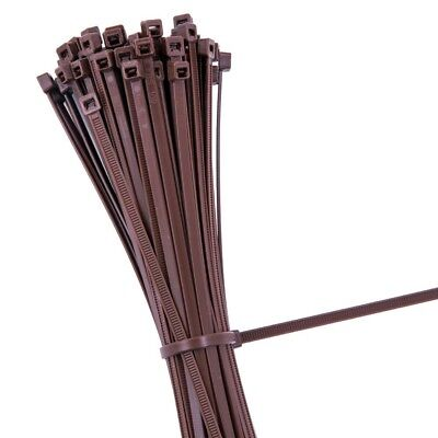 BROWN STRONG QUALITY NYLON CABLE TIES ZIP WRAPS - Small/Large Short/Long UK