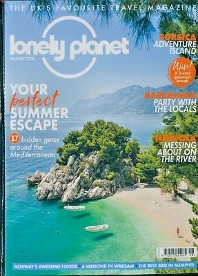 Lonely Planet Magazine August 2018 Norfolk ~ Barcelona ~ Corsica ~ Norway & More