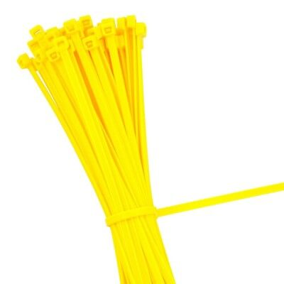 YELLOW STRONG QUALITY NYLON CABLE TIES ZIP WRAPS - Small/Large Short/Long UK