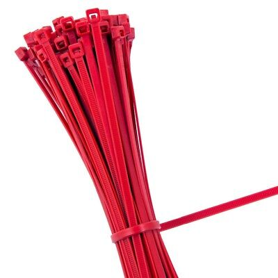 RED STRONG QUALITY NYLON CABLE TIES ZIP WRAPS - Small/Large Short/Long UK